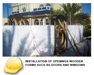 INSTALLATION OF OPENINGS WOODEN